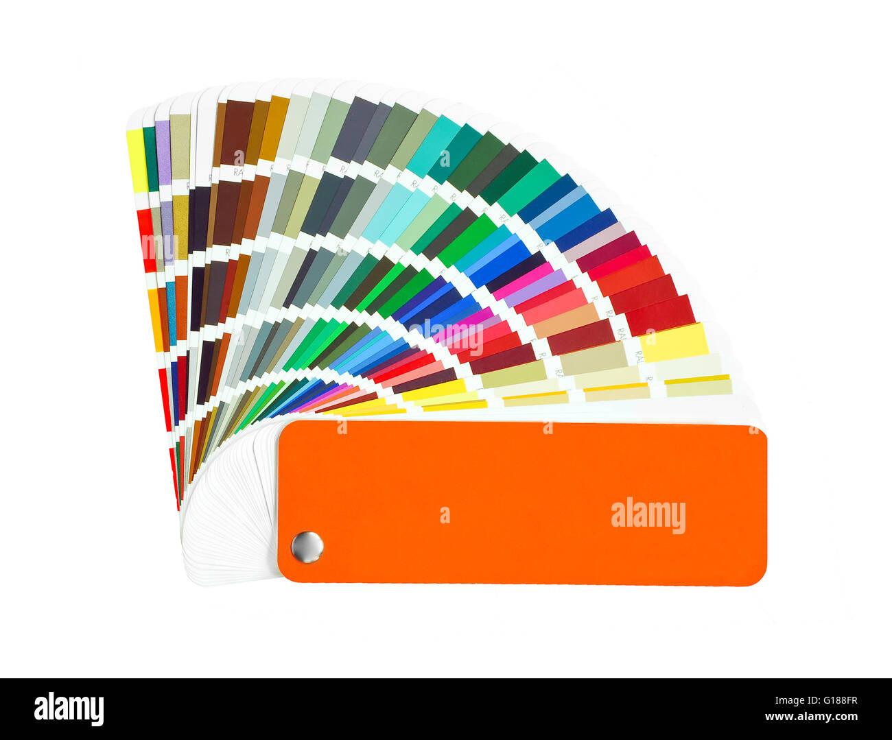 color palette sample Stock Photo
