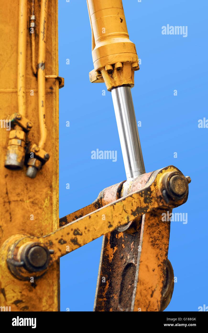hydraulic piston - Stock Image