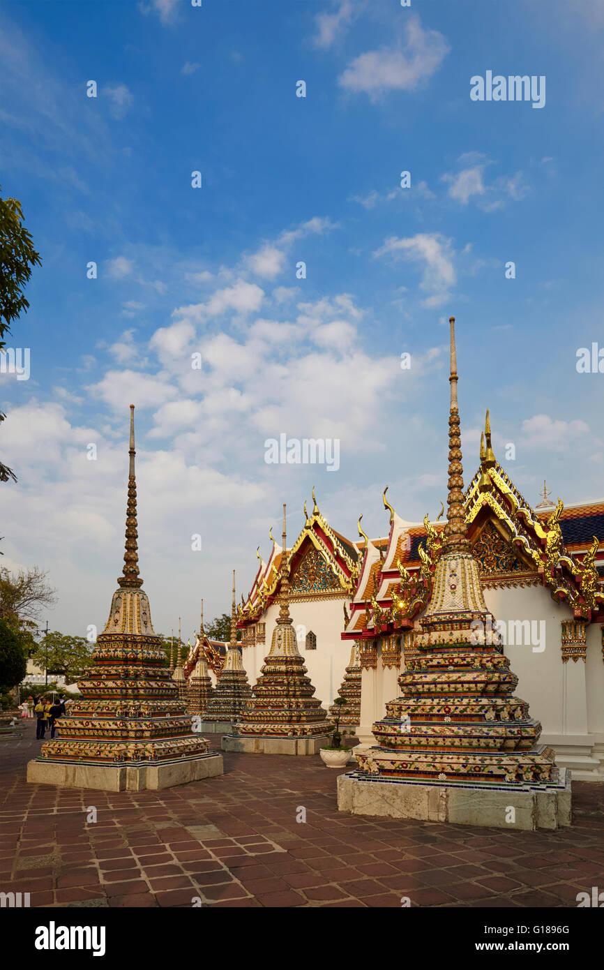Phra Chedi Rai at Wat Pho, Bangkok, Thailand - Stock Image