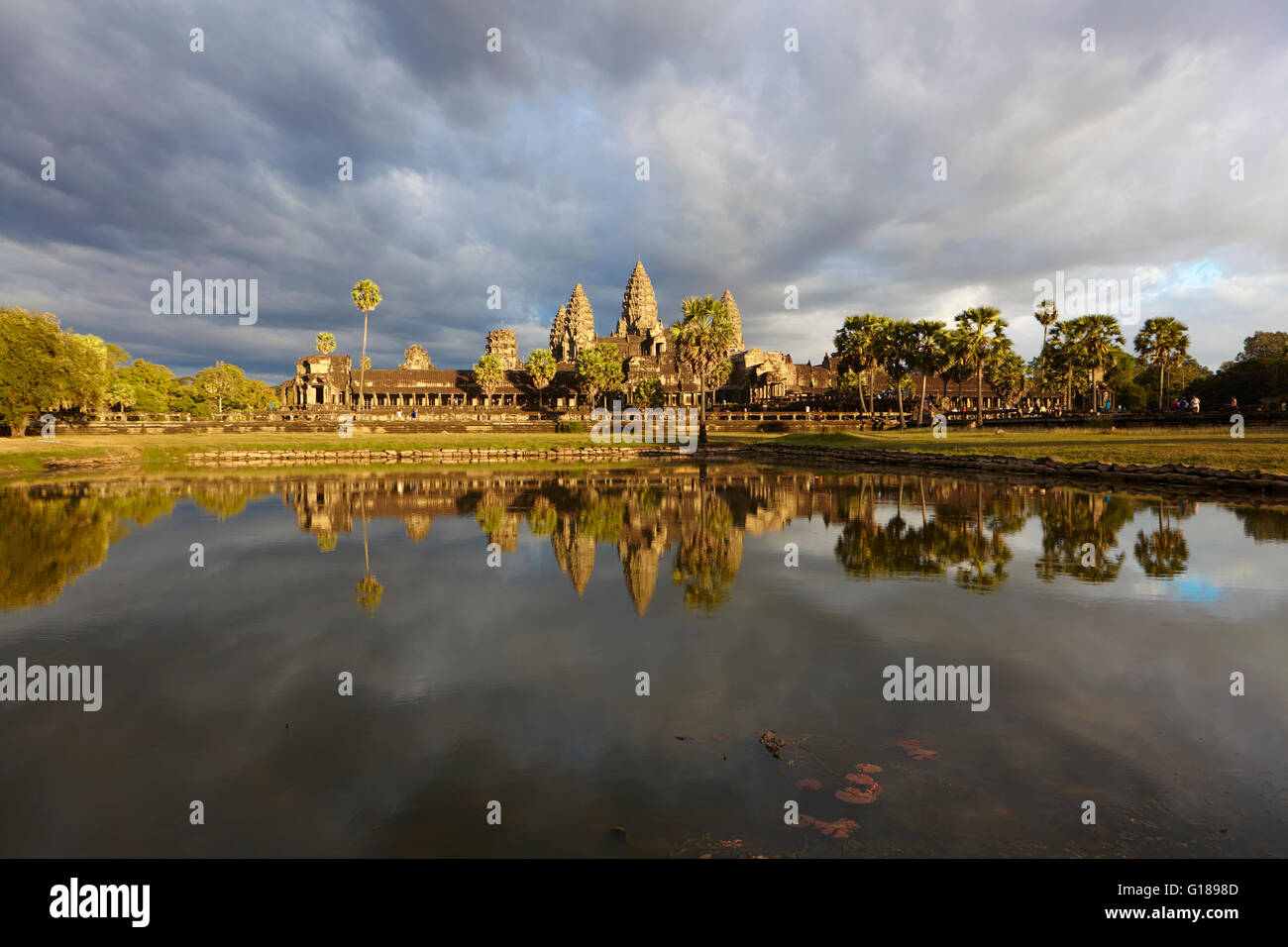 Angkor Wat temple, Siem Reap, Cambodia - Stock Image