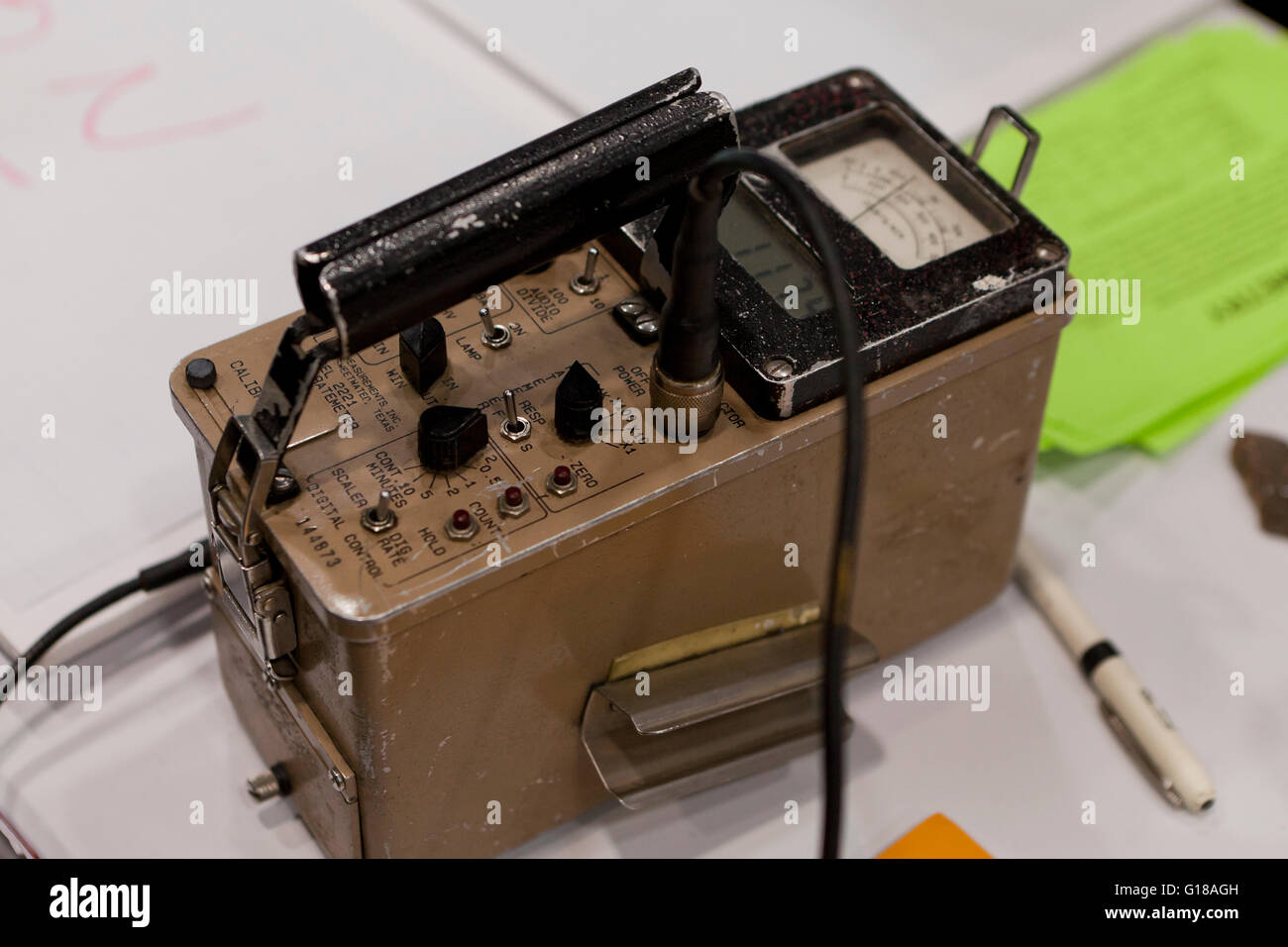 Vintage Ludium Model 2221 Radiation Scaler Ratemeter (Geiger counter) - USA - Stock Image