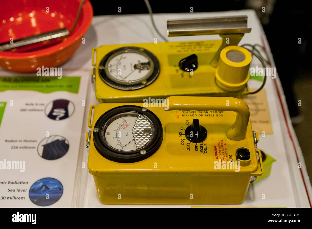 Geiger Stock Photos Images Alamy Counter Circuits Vintage Ion Chamber Survey Meter Usa Image