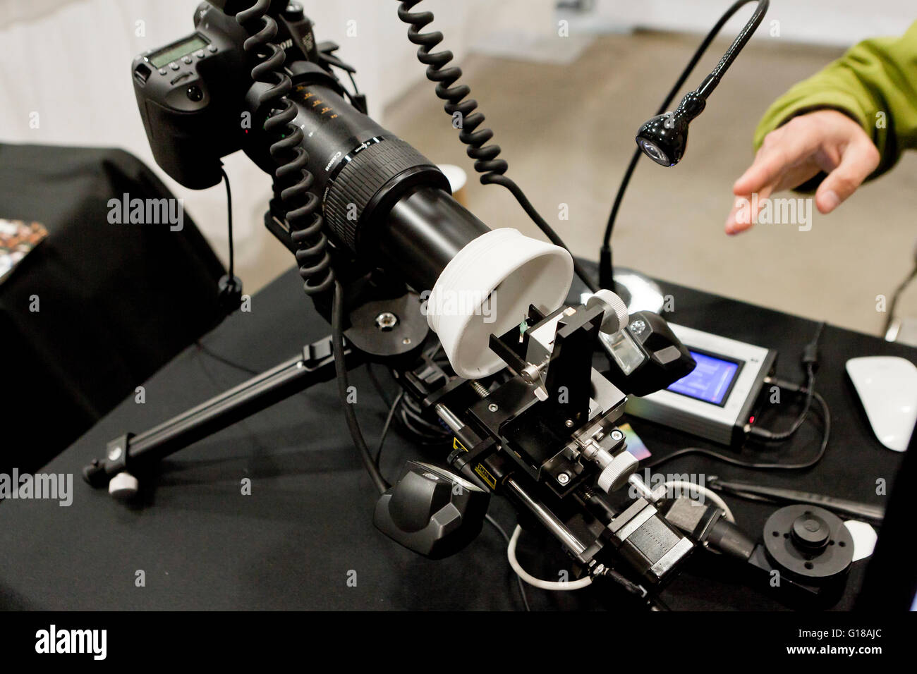 Macro photography setup - USA - Stock Image