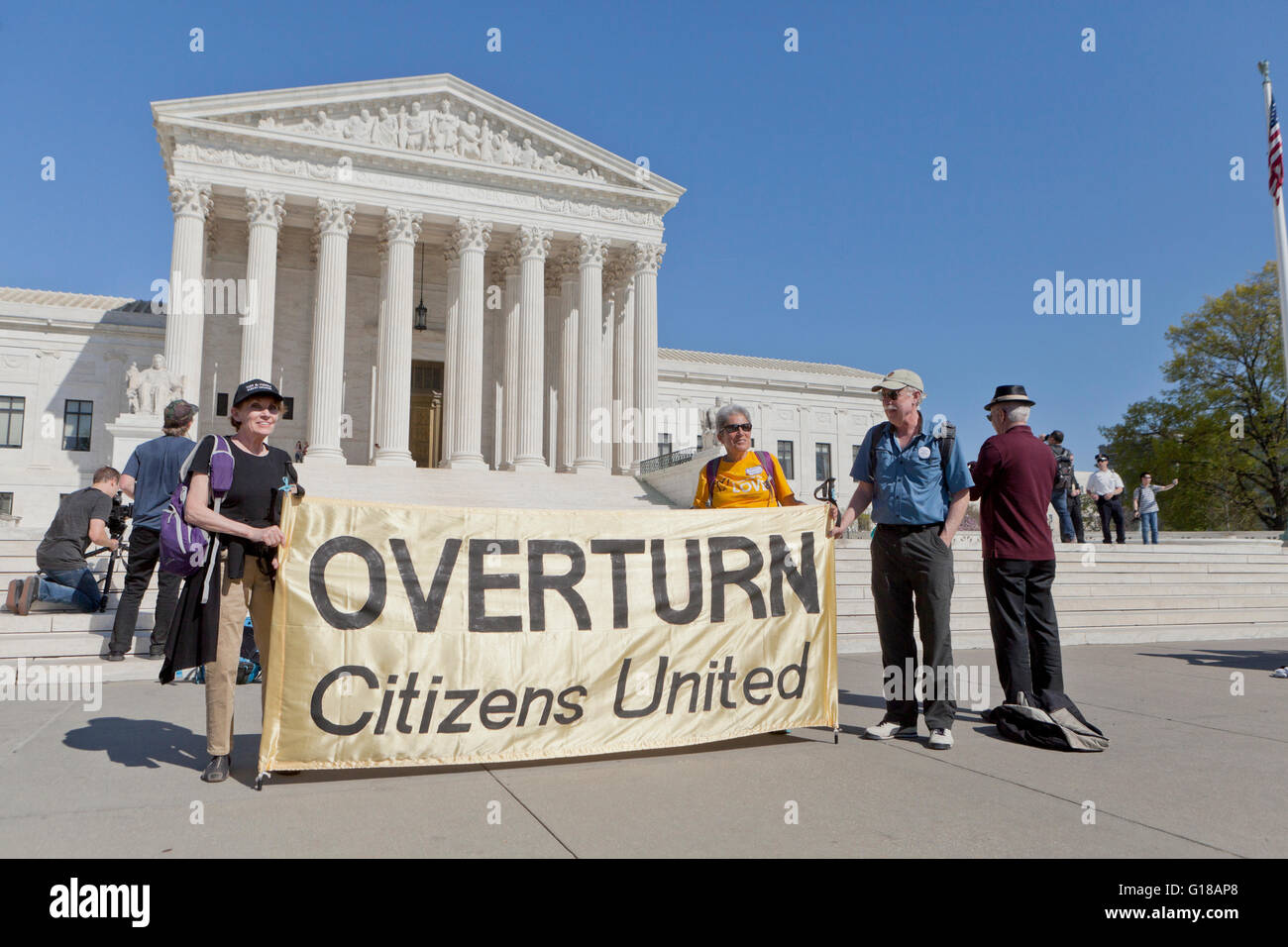Anti-Citizens United Supreme Court decision protesters - Washington, DC USA - Stock Image