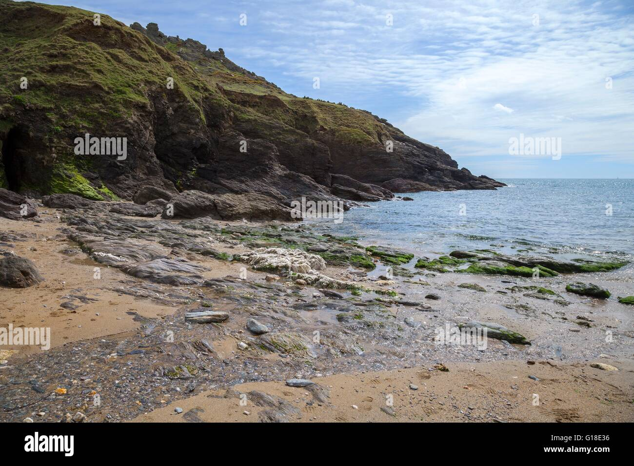 Soar Mill Cove beach, Devon, England. - Stock Image
