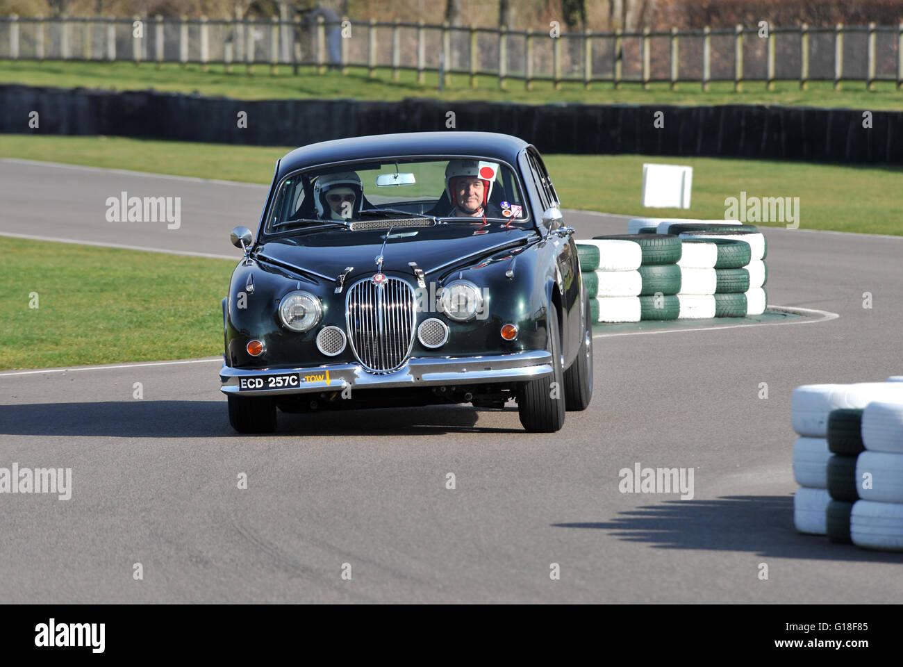 Mk2 Jaguar Racing Car On Track At Goodwood Stock Photo 104064469