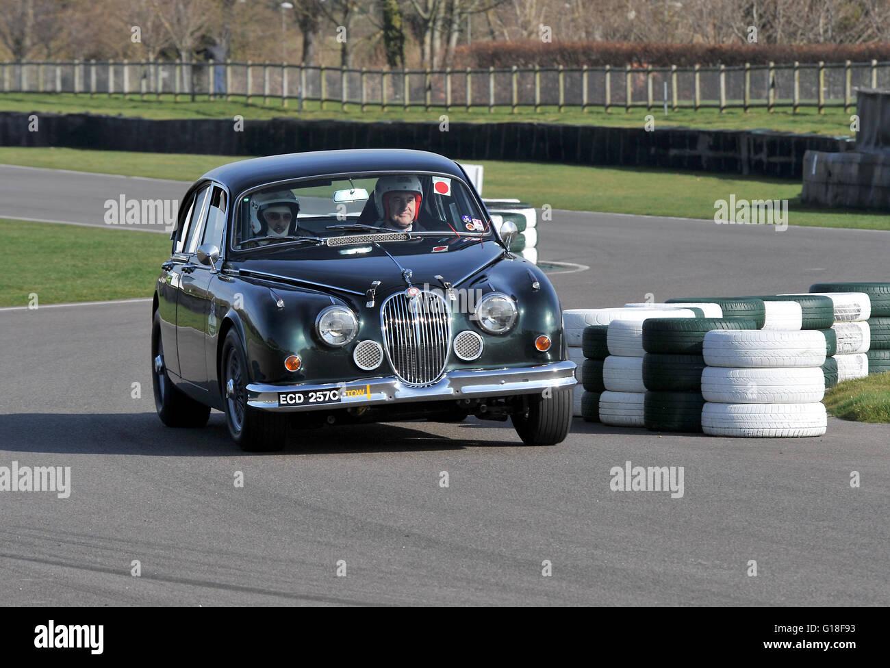 Mk2 Jaguar Racing Car On Track At Goodwood Stock Photo 104064495