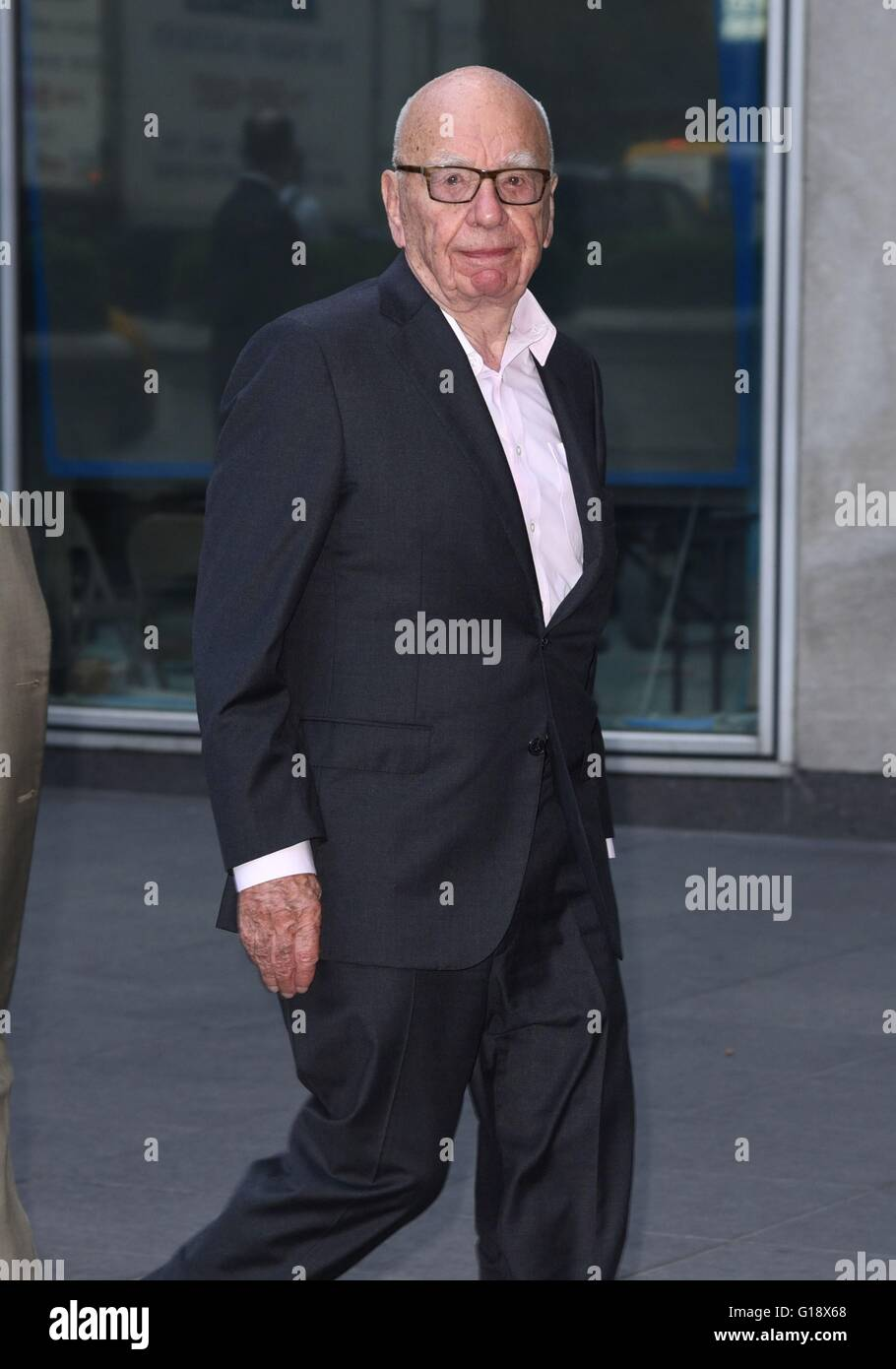 New York, NY, USA. 11th May, 2016. Rupert Murdoch arrives at his offices out and about for Celebrity Candids - WED, - Stock Image