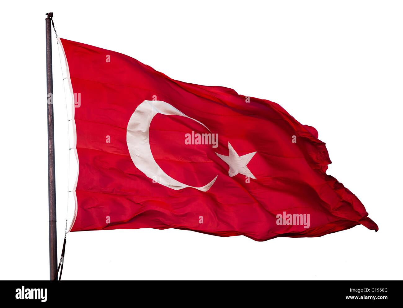 Turkish flag - Stock Image
