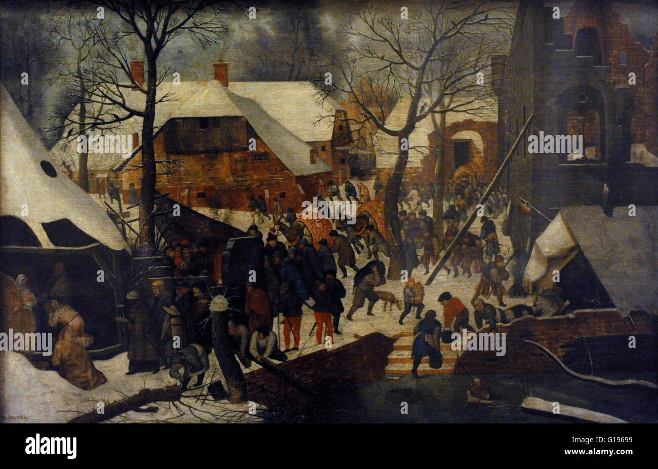 Pieter Brueghel the Younger (1564-1638). Flemish painter. Adoration of the Magi. Second half of the 16th century. - Stock Image
