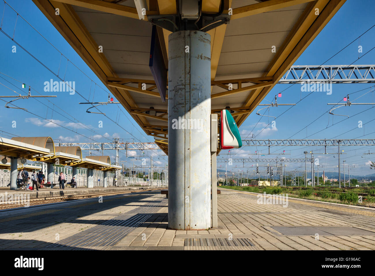 Near Florence, Italy. Firenze Castello railway station on the outskirts of the city. - Stock Image