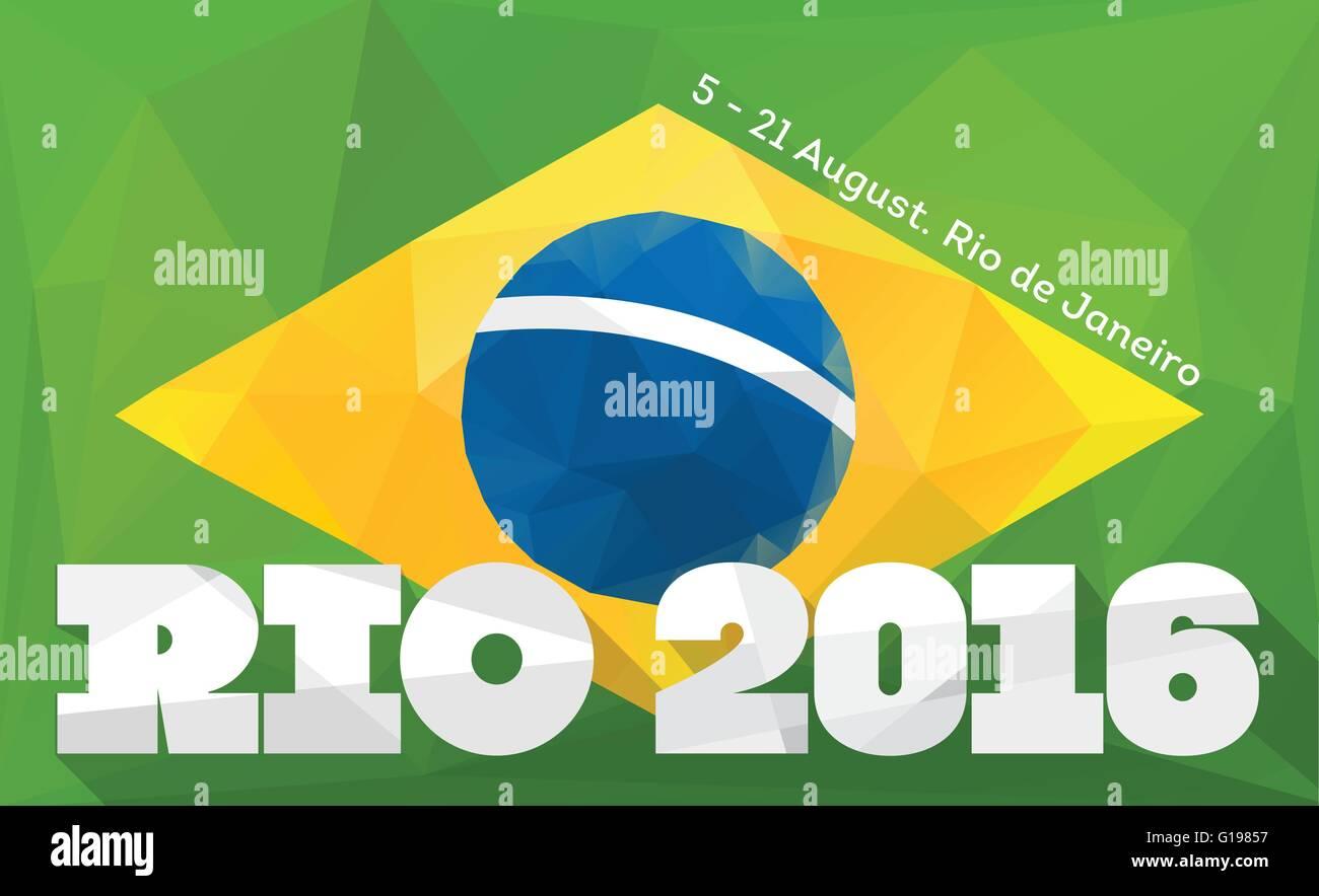 Illustartion of rio 2016 Olympic Games - Stock Vector