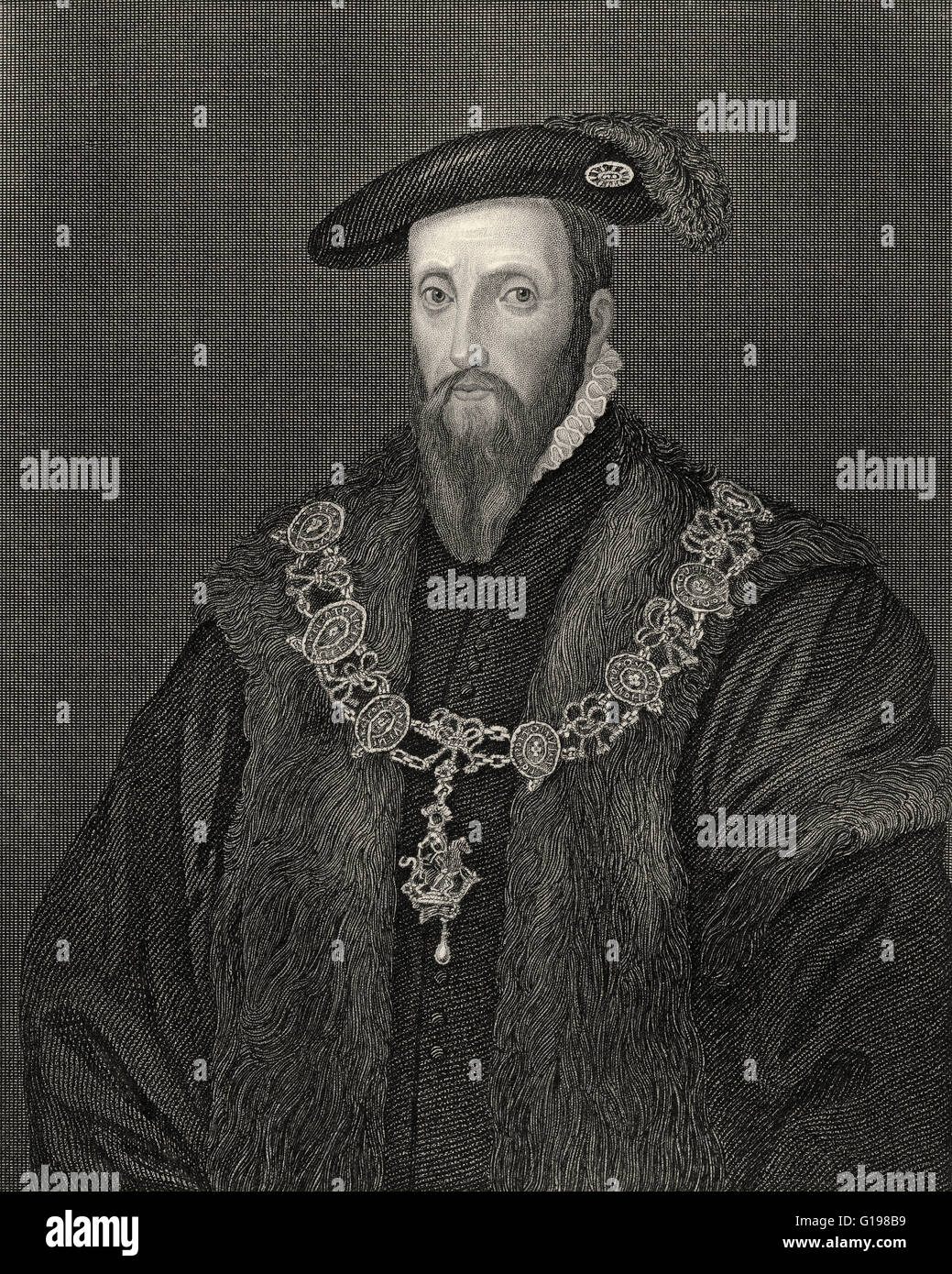 Edward Seymour, 1st Duke of Somerset, KG, c. 1500-1552, brother of Queen Jane Seymour, Lord Protector of England - Stock Image