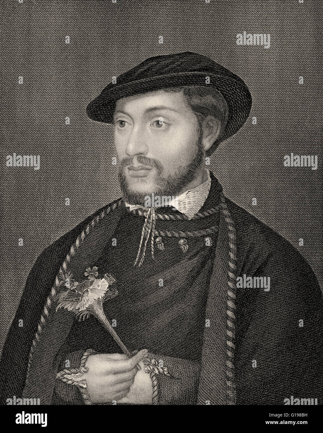 John Dudley, 1st Duke of Northumberland, KG, 1504-1553, an English general, admiral, and politician - Stock Image