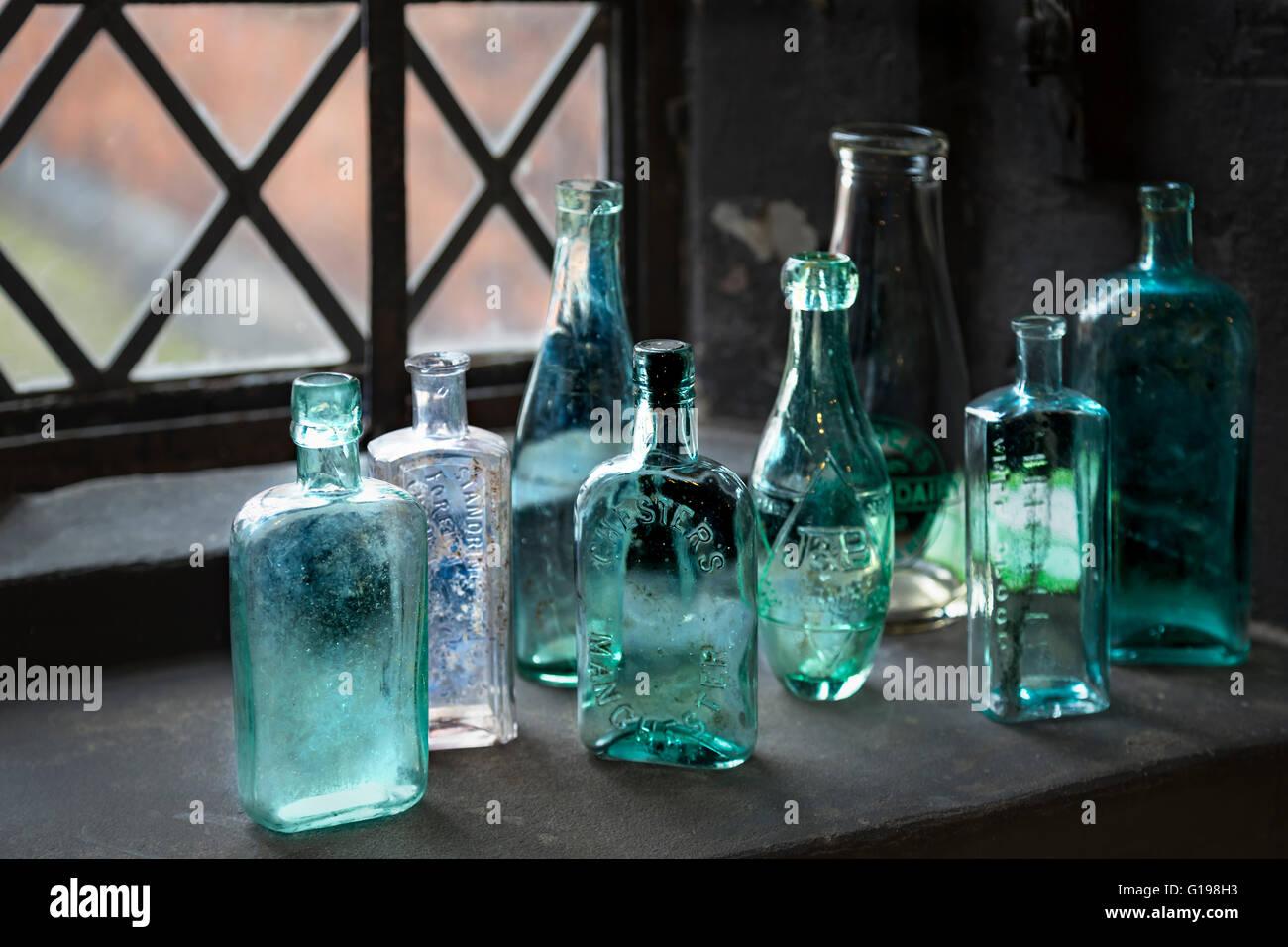 Bottles in Dunham Massey. - Stock Image