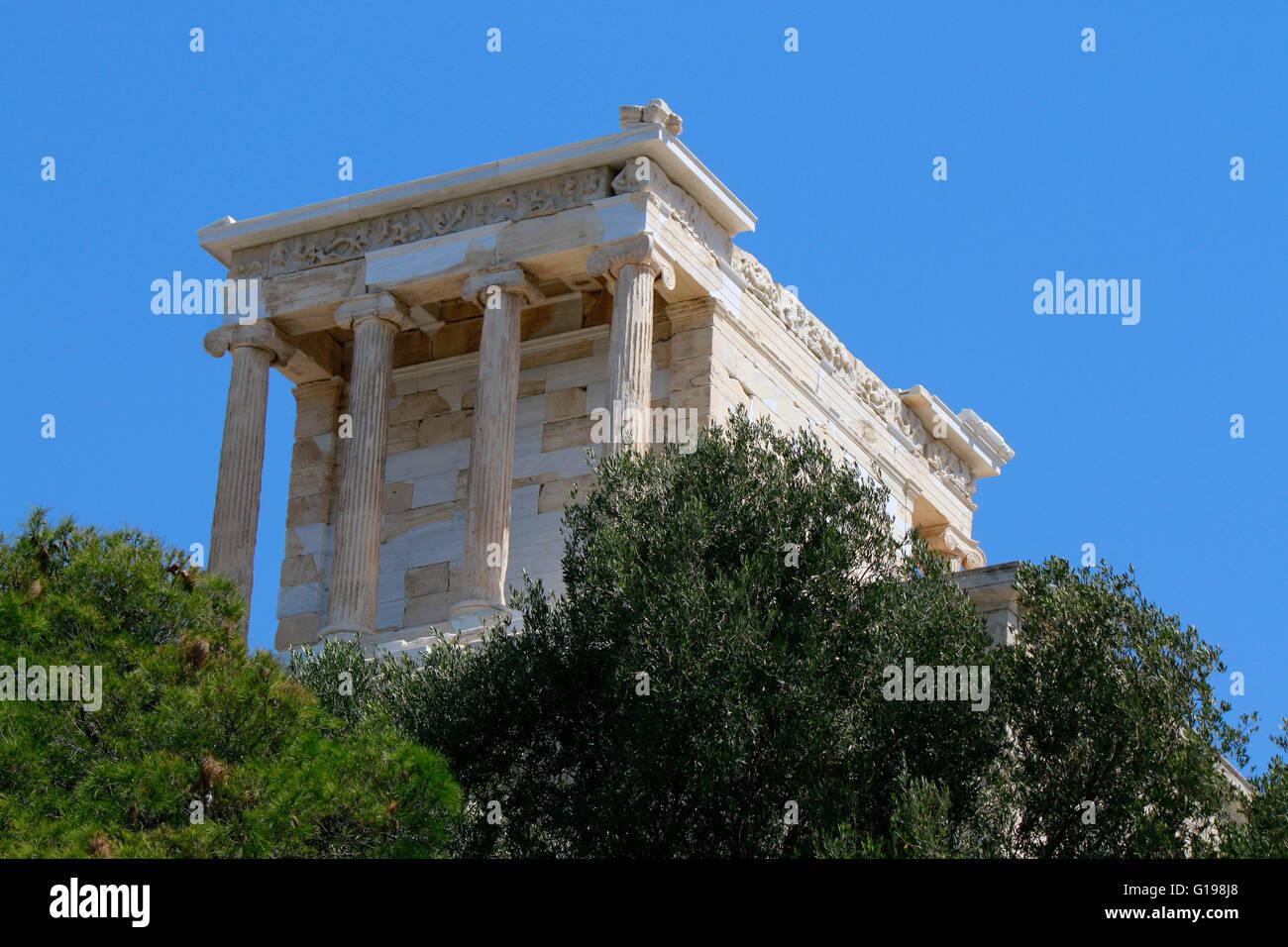 Tempel der Athena Nike/ Niketempel, Akropolis, Athen, Griechenland. Stock Photo