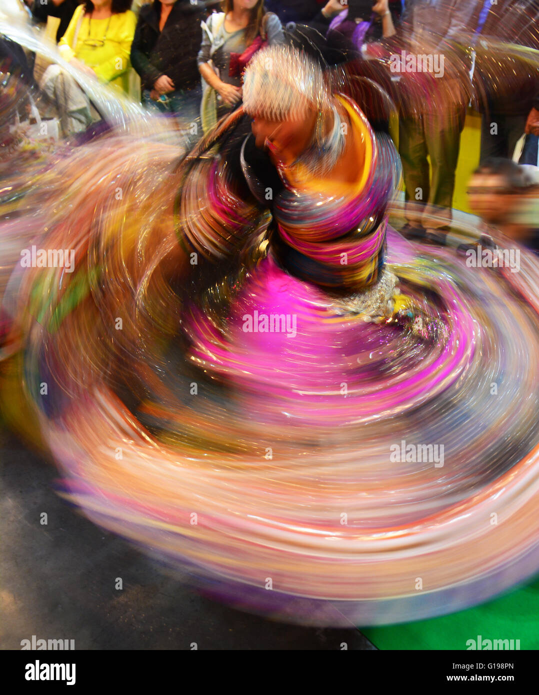 East Indian dance, blurred motion, - Stock Image