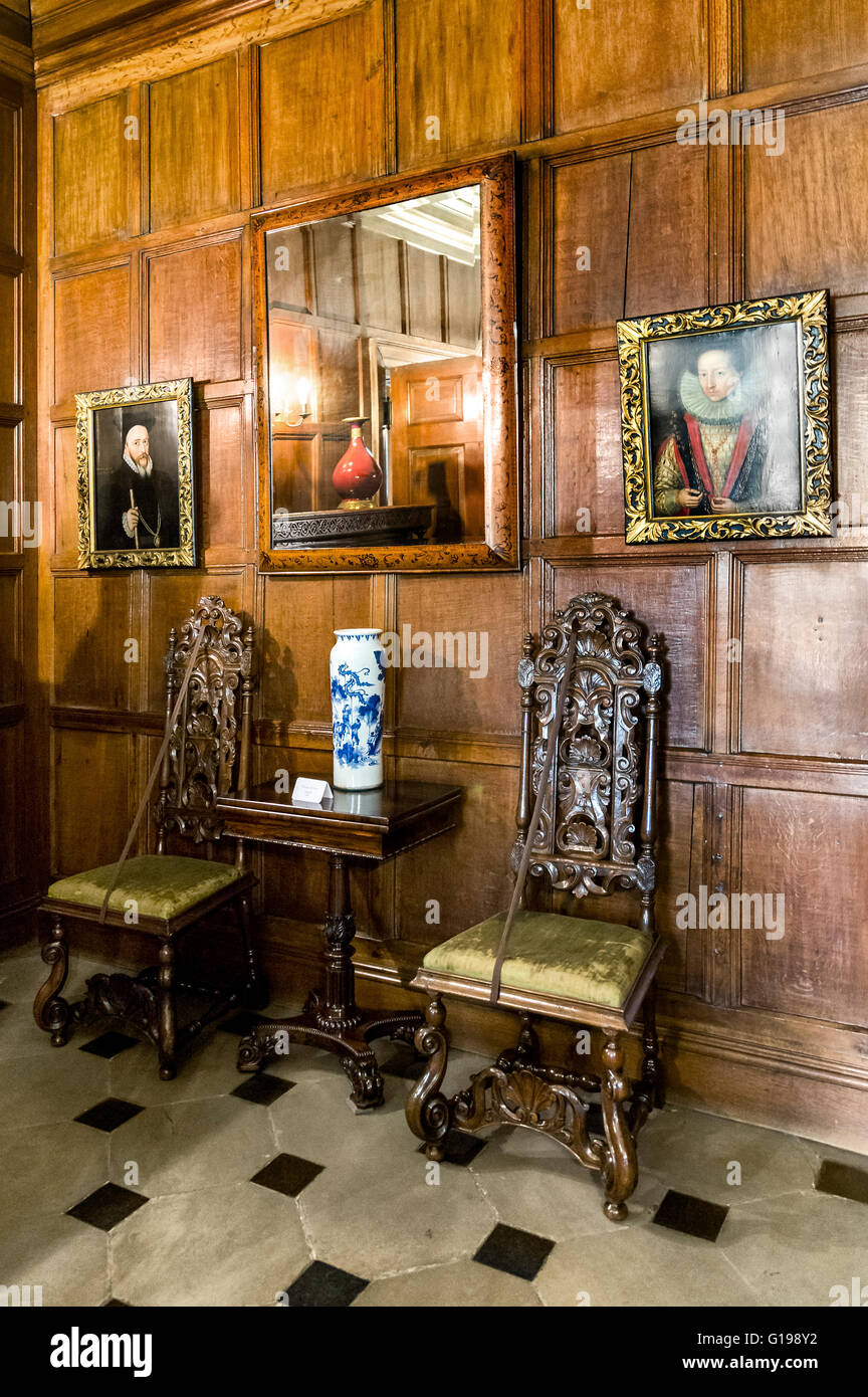 One of the rooms in Dunham Massey. - Stock Image