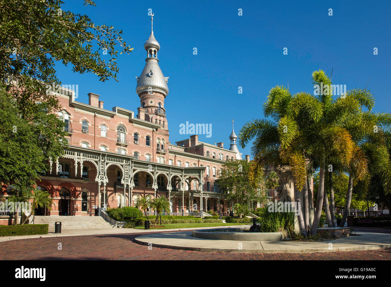 Henry B. Plant Museum - originally, the Tampa Bay Hotel (b. 1891) on the campus of University of Tampa, Tampa, Florida, - Stock Image