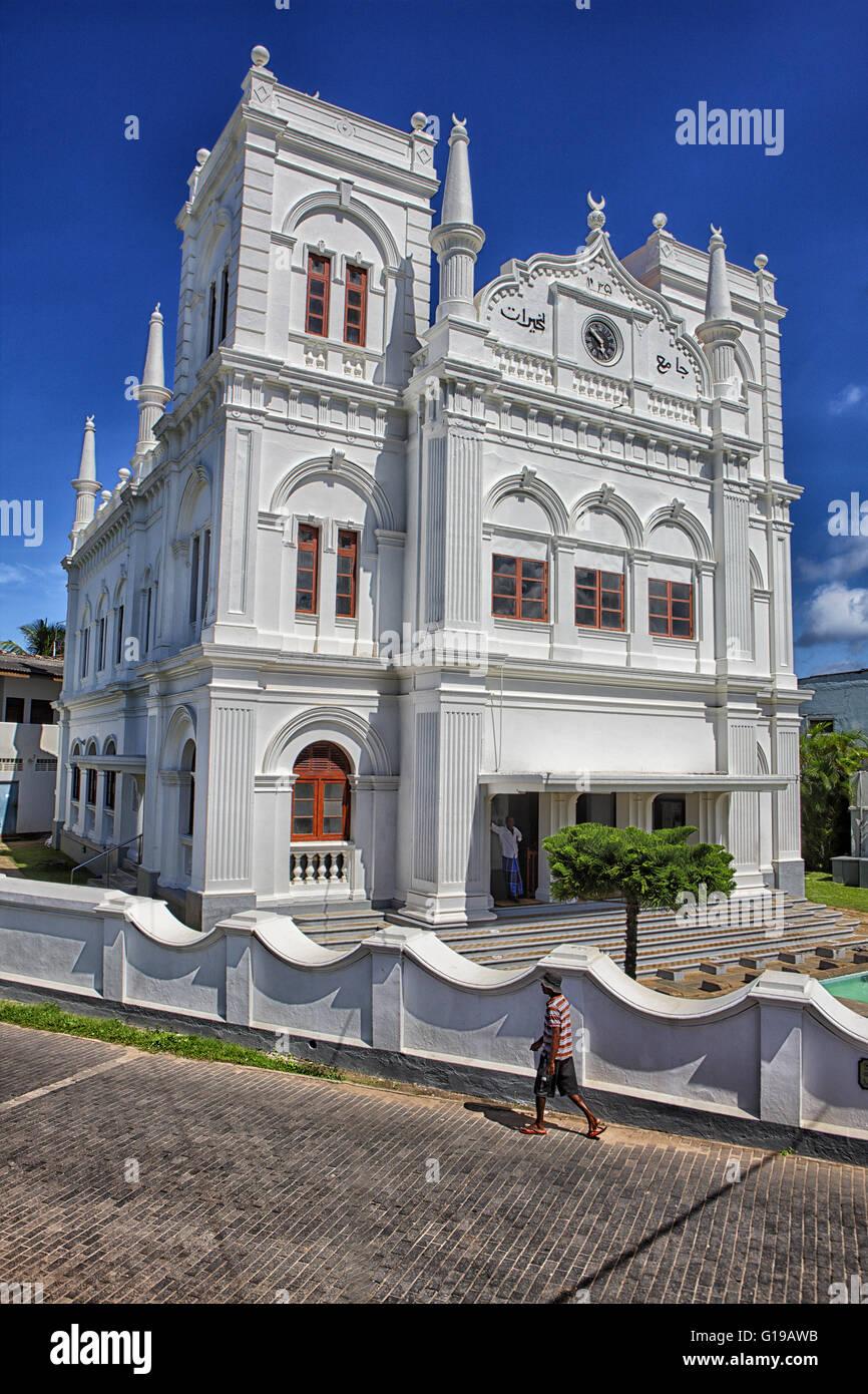 Sri Lanka bile old town coast lighthouse mosque people Asia South-Asia Island island state south southwest-coast - Stock Image