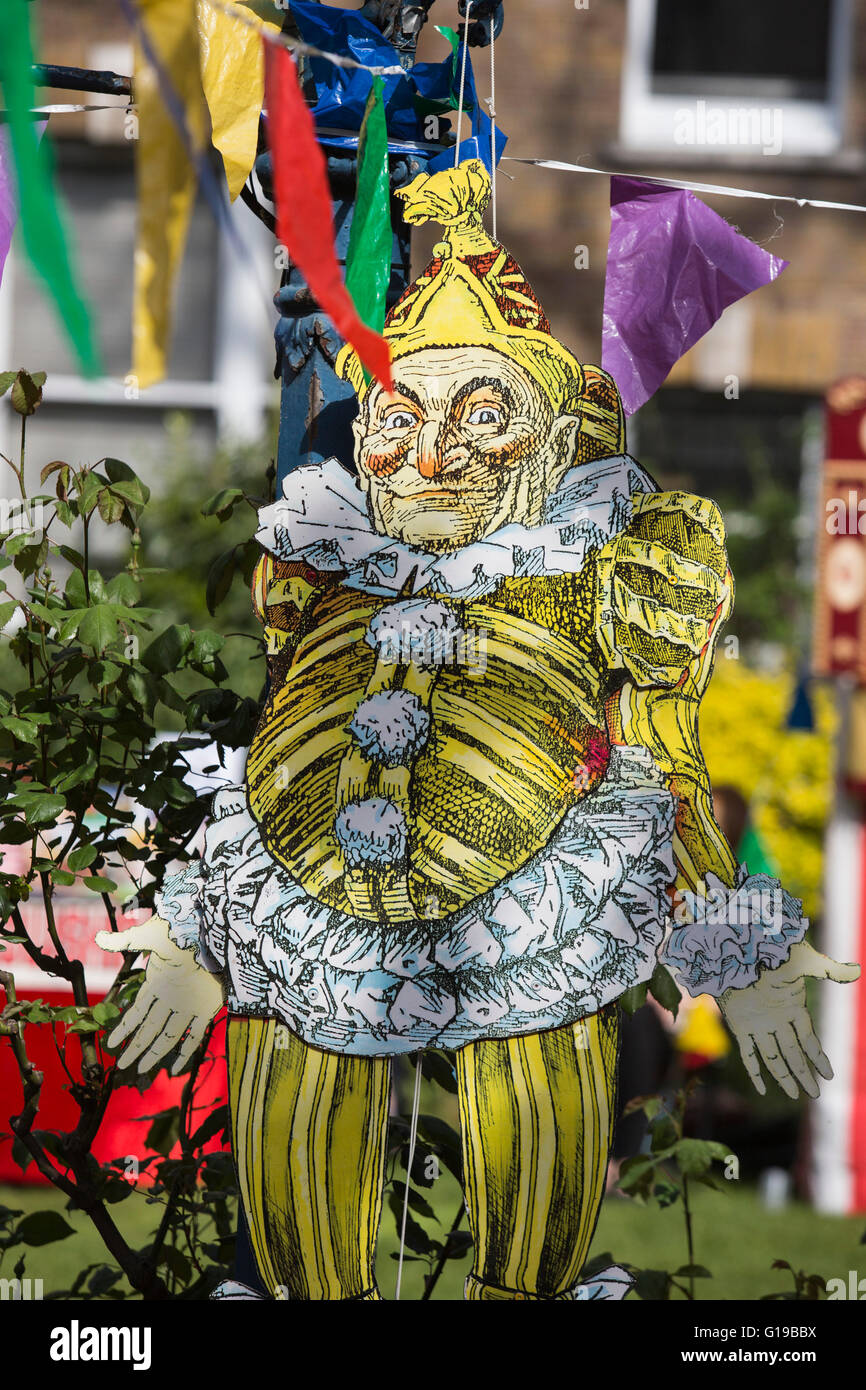 The 41st Annual Covent Garden May Fayre and Puppet Festival takes place in the grounds of St Paul's Church. - Stock Image