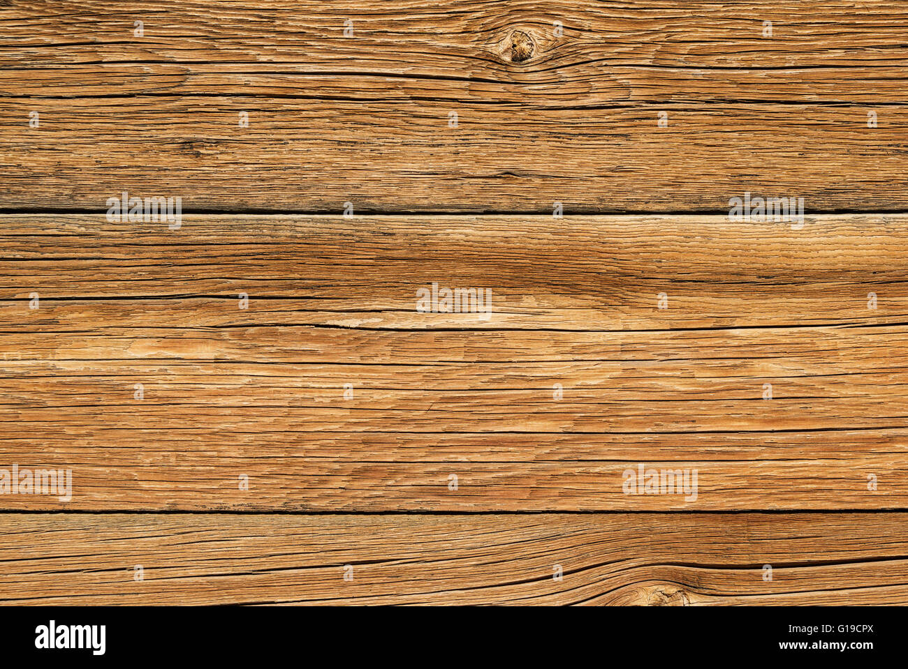 old weathered wood board background texture - Stock Image