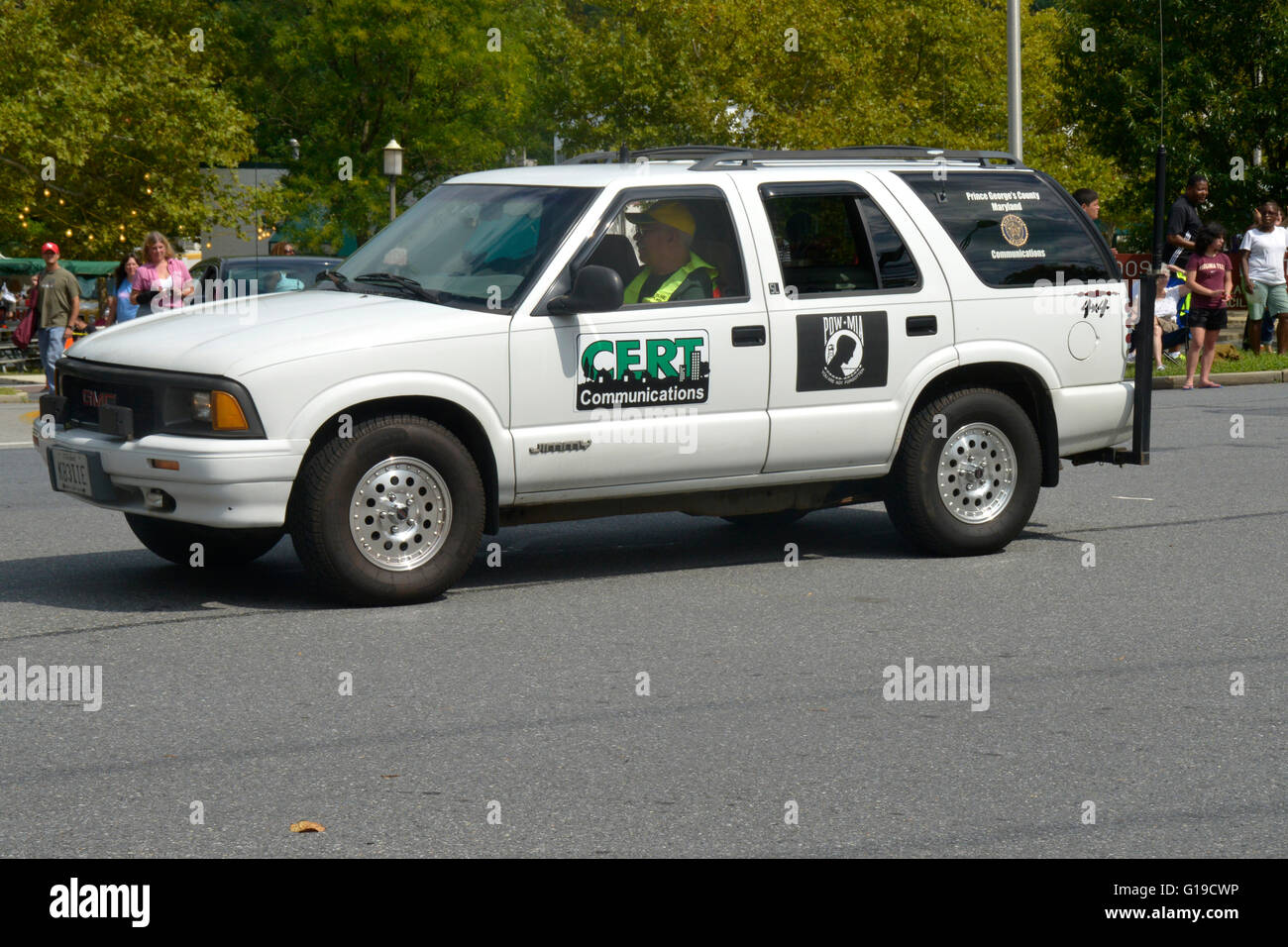 Community Emergency Response Team's SUV Stock Photo