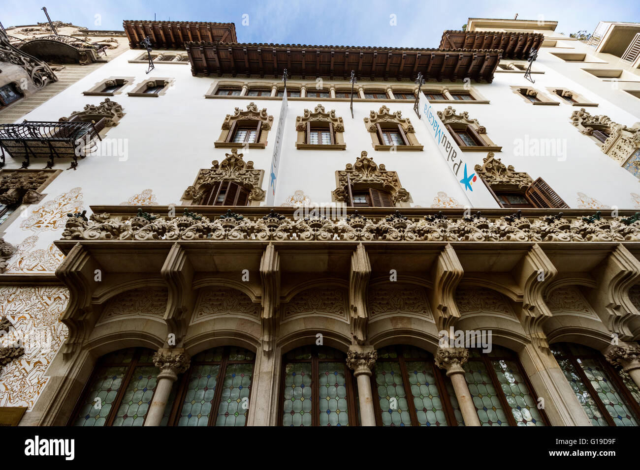 Palau Macaya, by Josep Puig i Cadafalch. 1901. Barcelona. - Stock Image