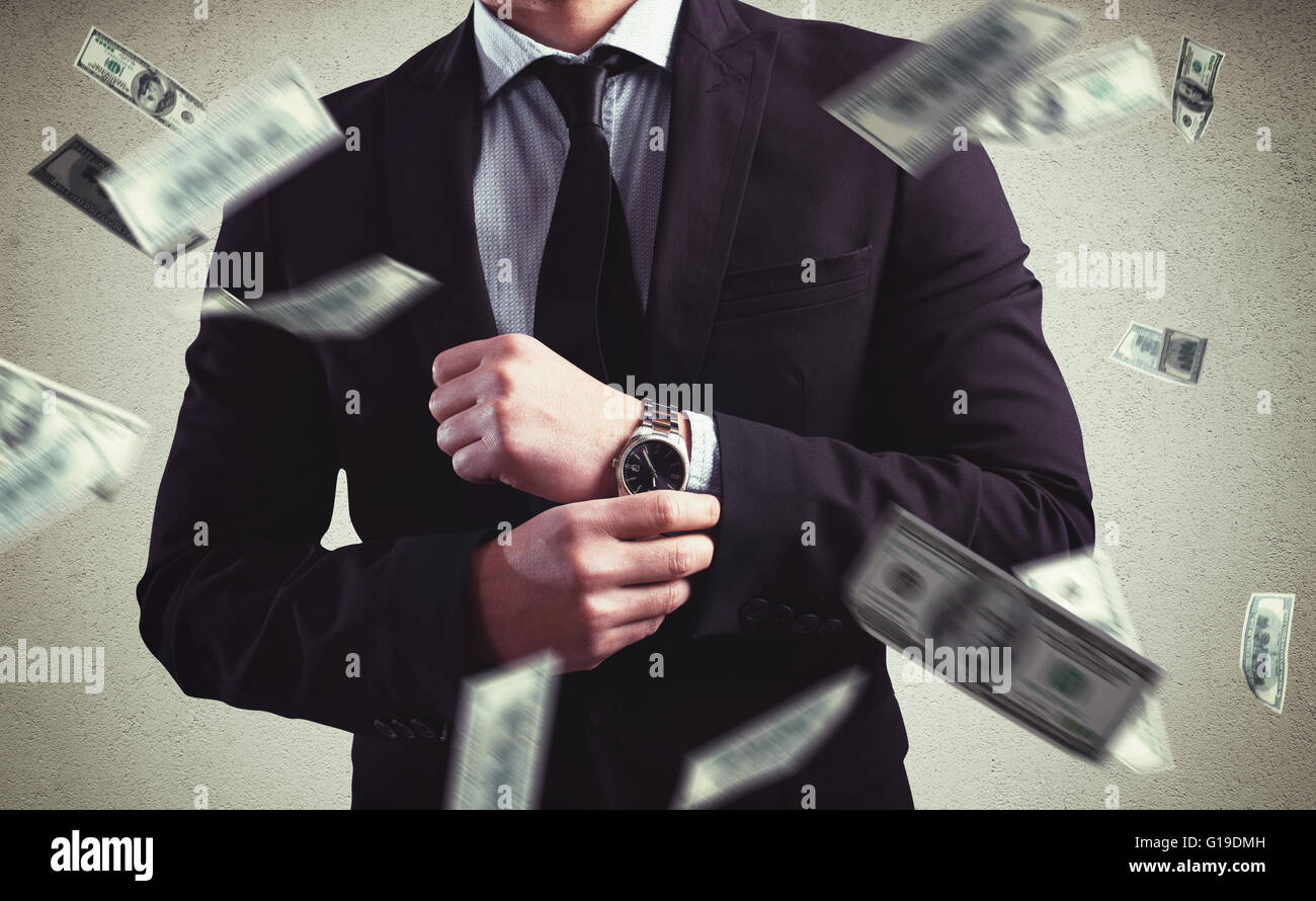 Rich with success - Stock Image