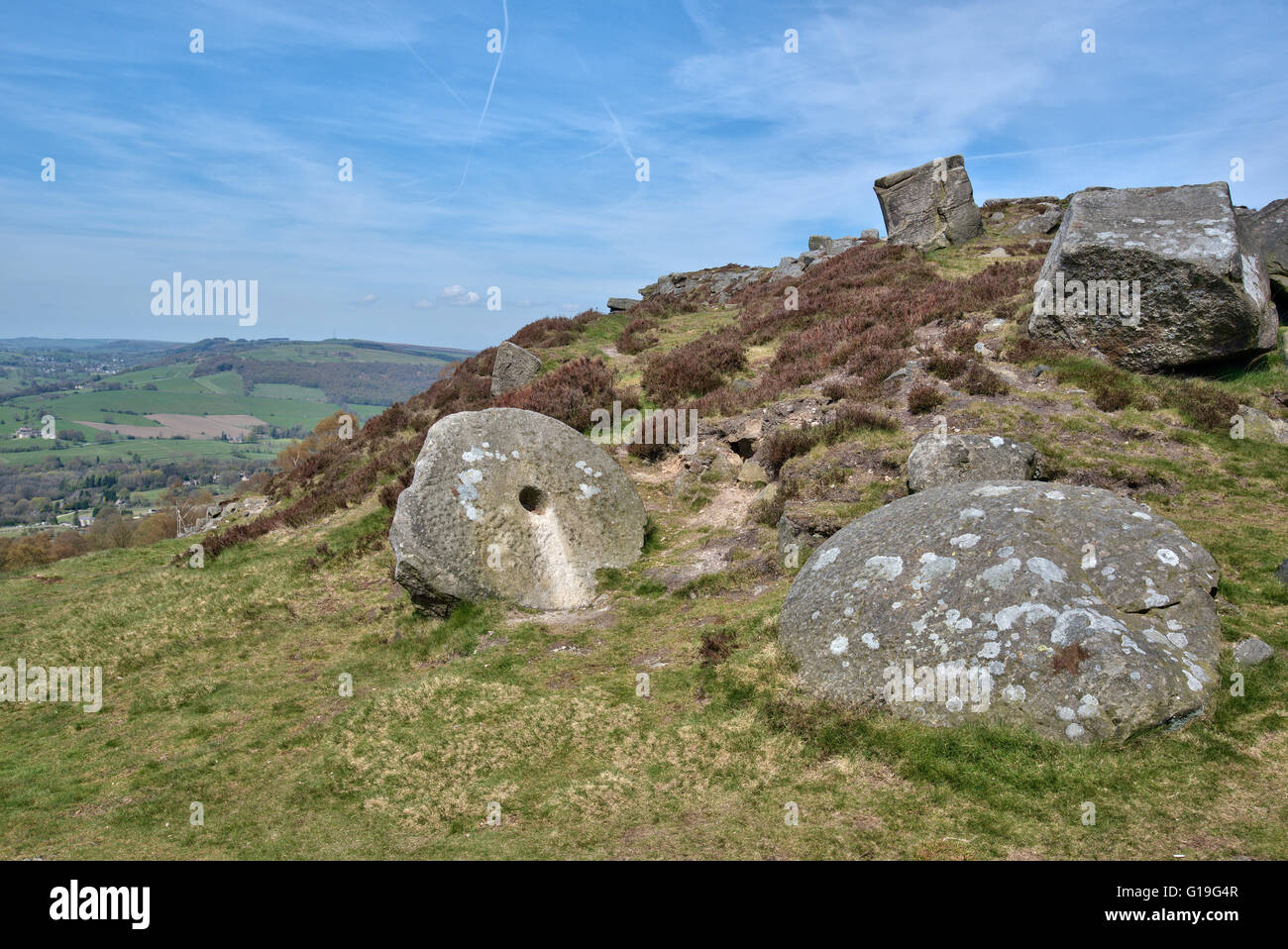 Curbar Edge View - Stock Image