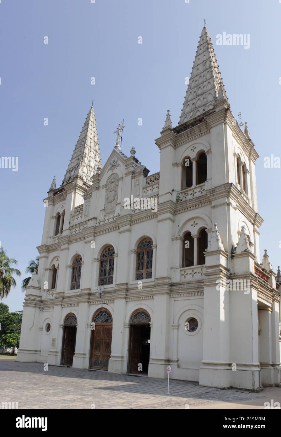 Santa Cruz Cathedral Basilica at Fortkochi Stock Photo