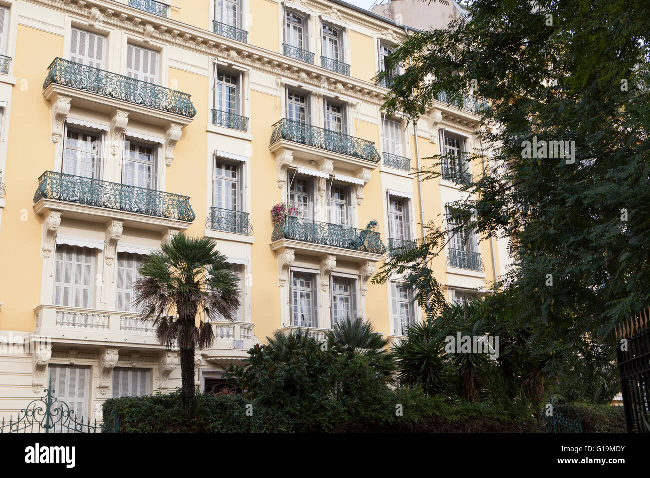 Apartments In Nice France Europe Stock Photo Alamy