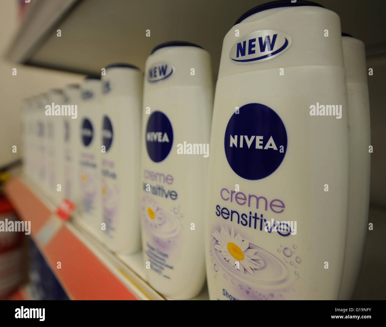 NIVEA shower creme - Stock Image