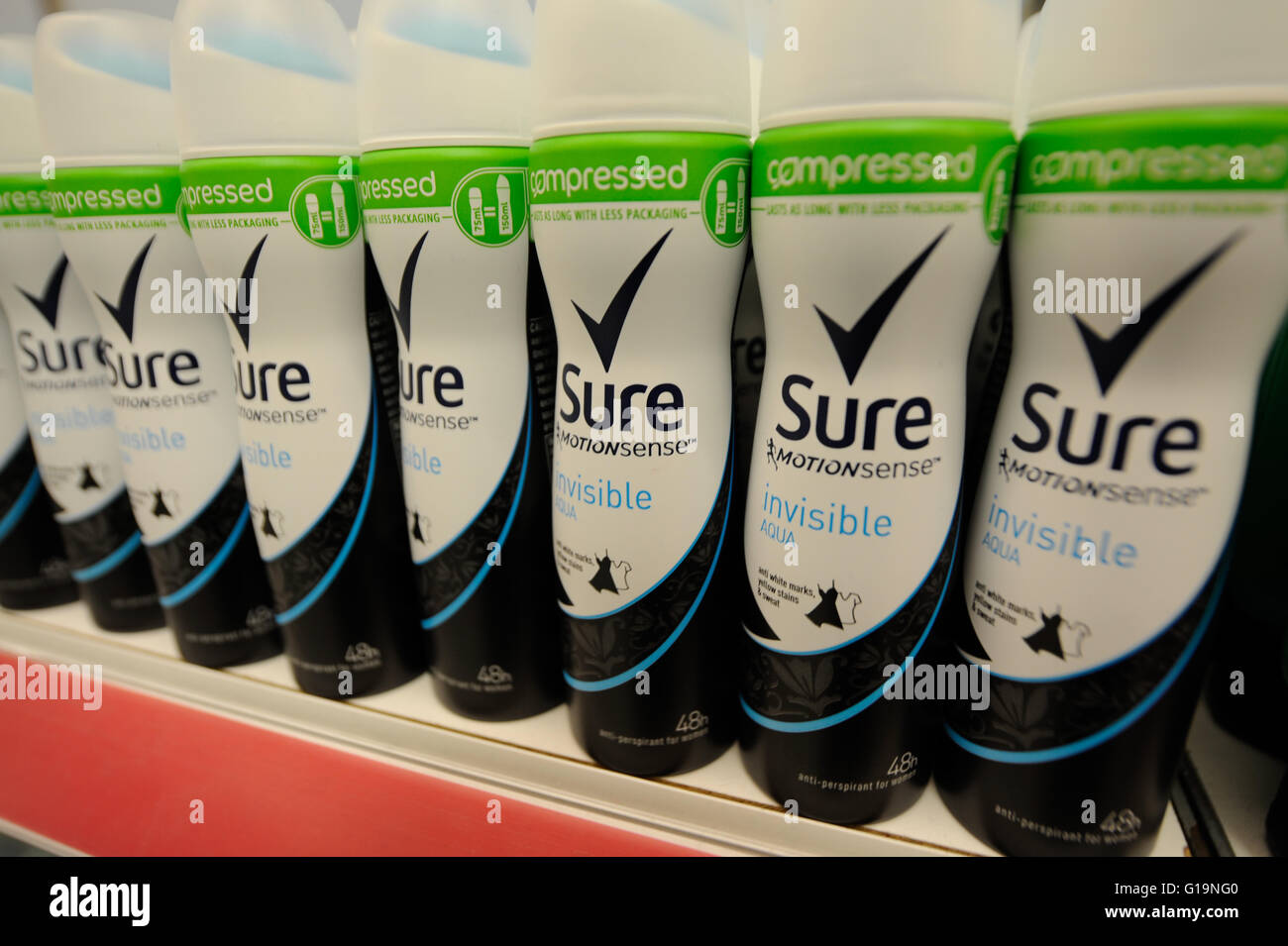 Sure Antiperspirant - Stock Image