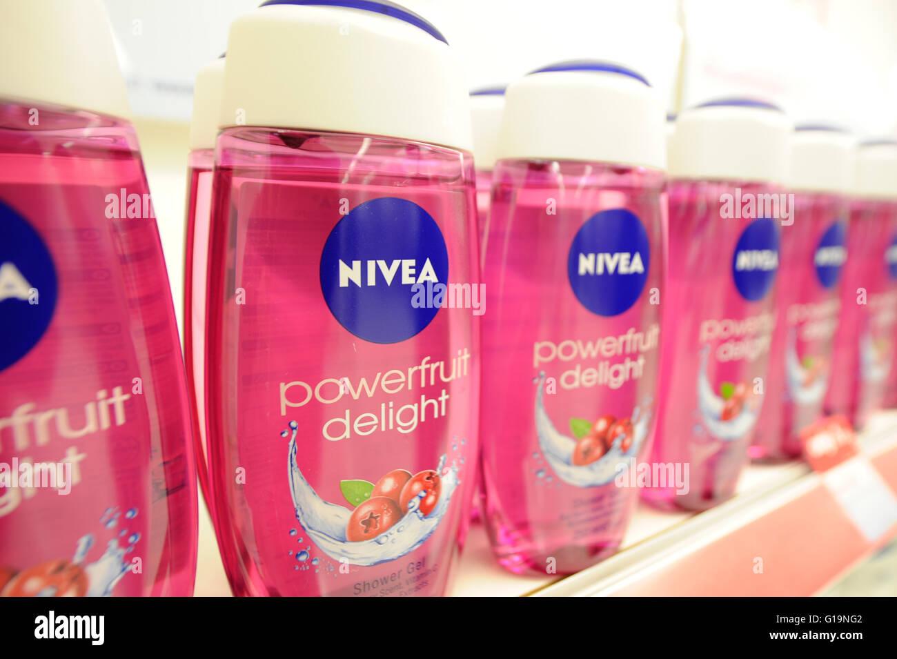 NIVEA shower gel - Stock Image