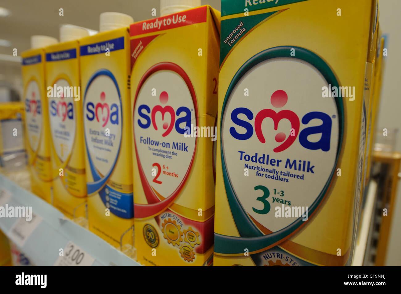 SMA,formula, powdered milk, UK - Stock Image