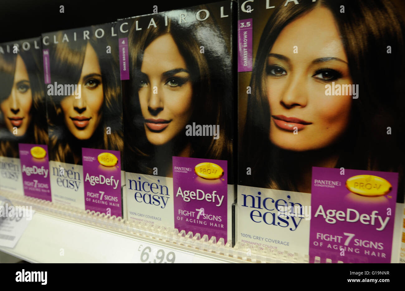 Clairol, Pantene, hair care,UK Stock Photo