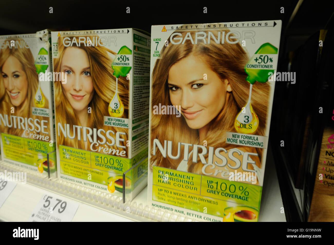 Garnier, hair care, UK - Stock Image