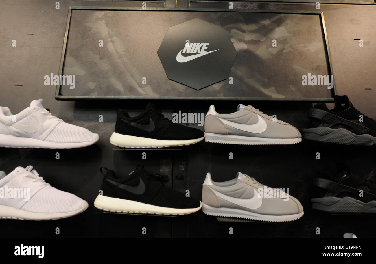 Nike,footwear, sports, UK - Stock Image