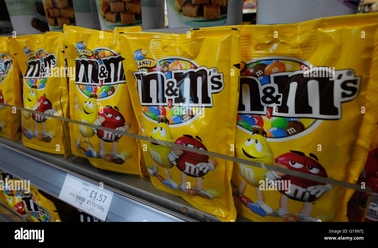 m&m's,chocolate,UK - Stock Image