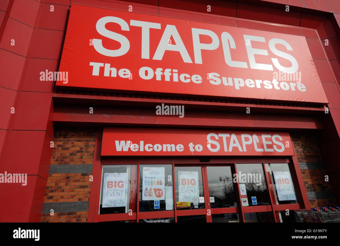 Staples,technology, furniture, UK - Stock Image