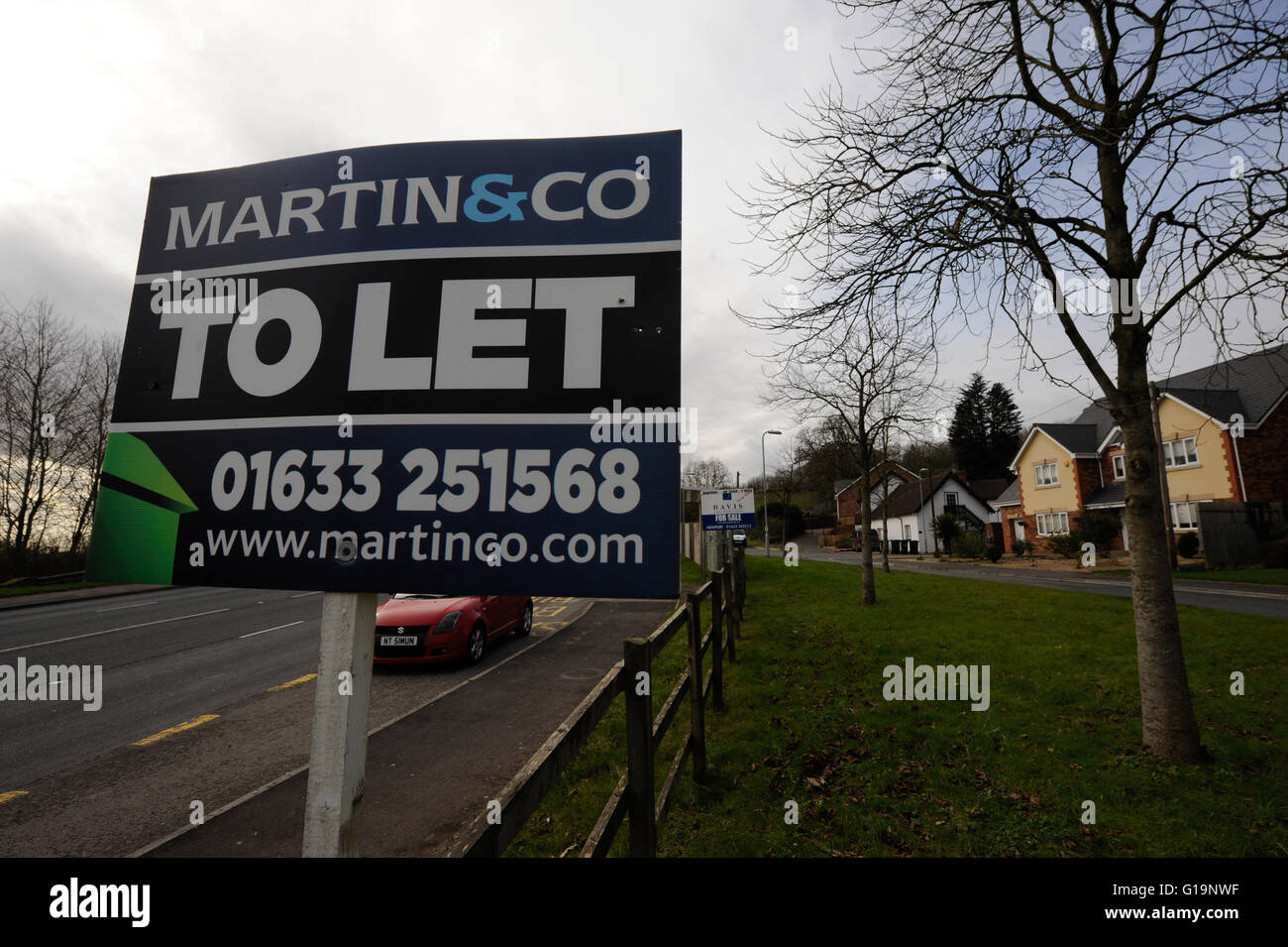 Real Estate agency,UK, To Let - Stock Image
