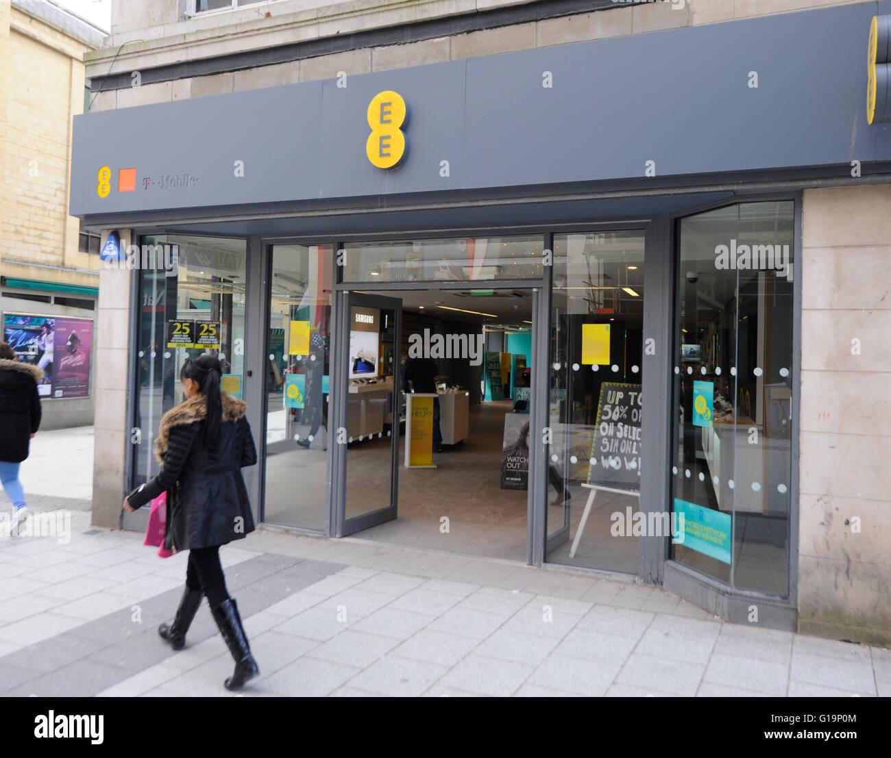 telecommunications,T-Mobiles,shop,UK - Stock Image