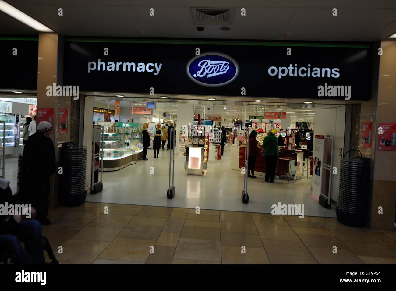 Boots,pharmacy, optician,optic shop,UK - Stock Image