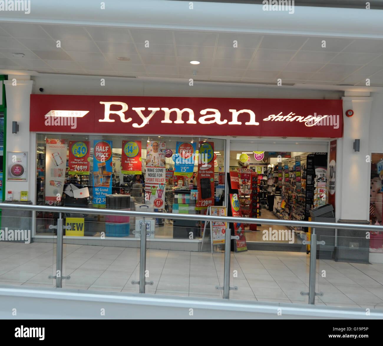 Ryman,stationary,UK - Stock Image