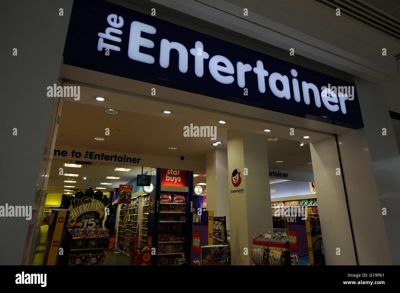 The Entertainer,toy shop,infant,UK - Stock Image