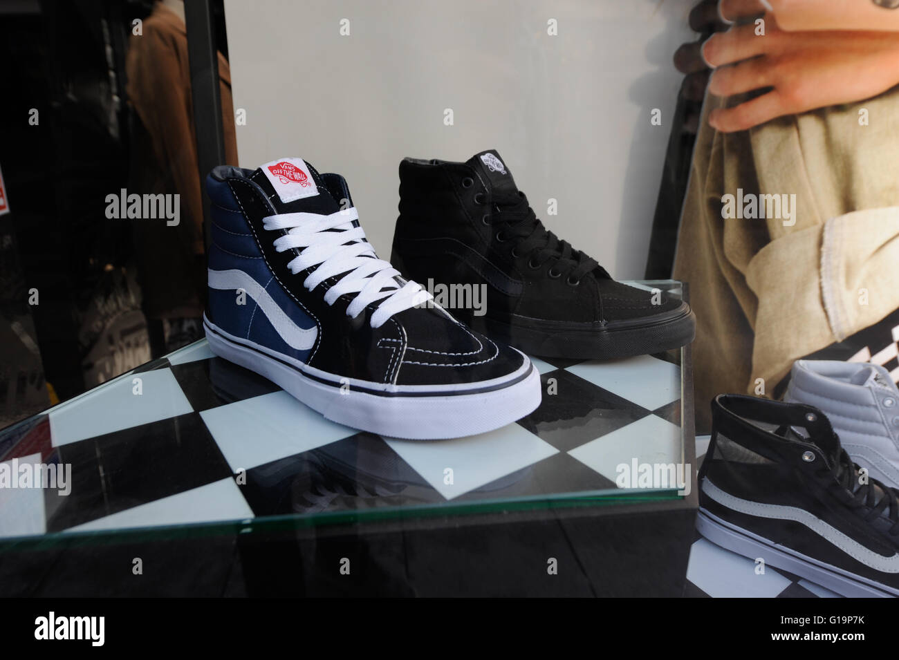 Vans shoes on display in Store in Cardiff  - United Kingdom Stock Photo