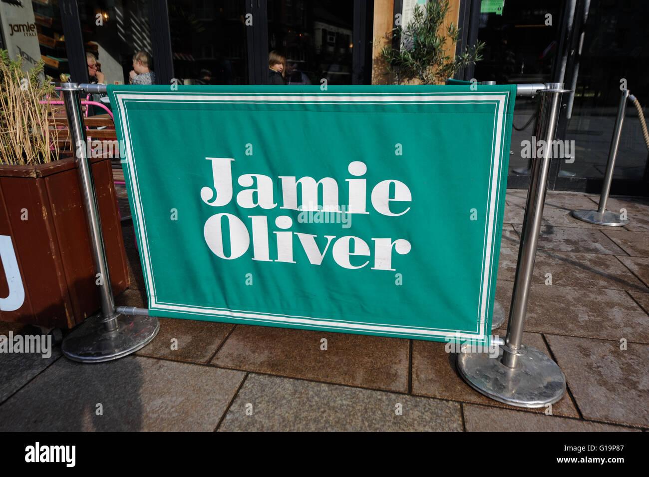 Jamie Oliver restaurant - Cardiff, United Kingdom - Stock Image