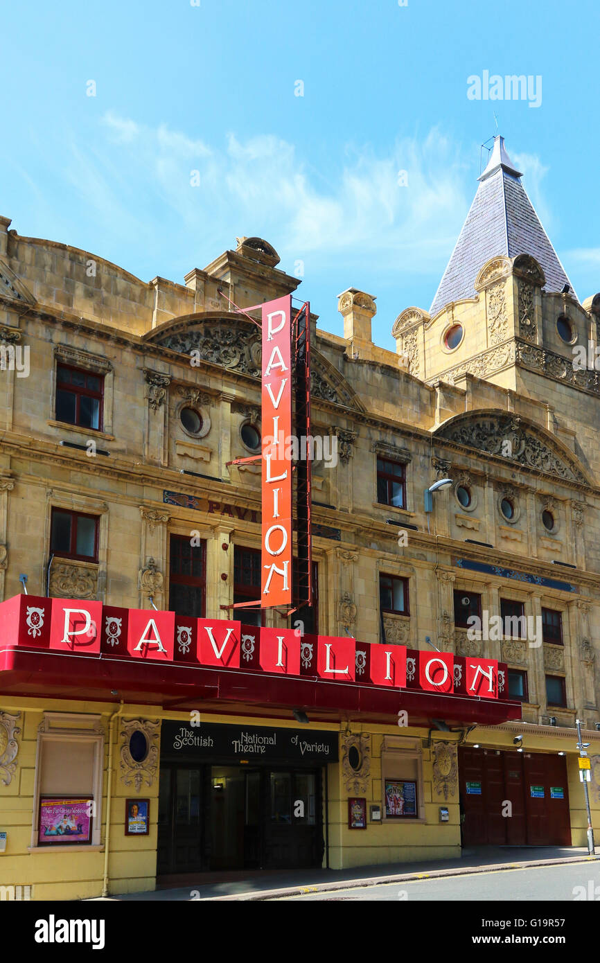 Pavilion Theatre, Renfield Street, Glasgow, the only privately owned theatre in Scotland. Opened in 1904 , designed - Stock Image