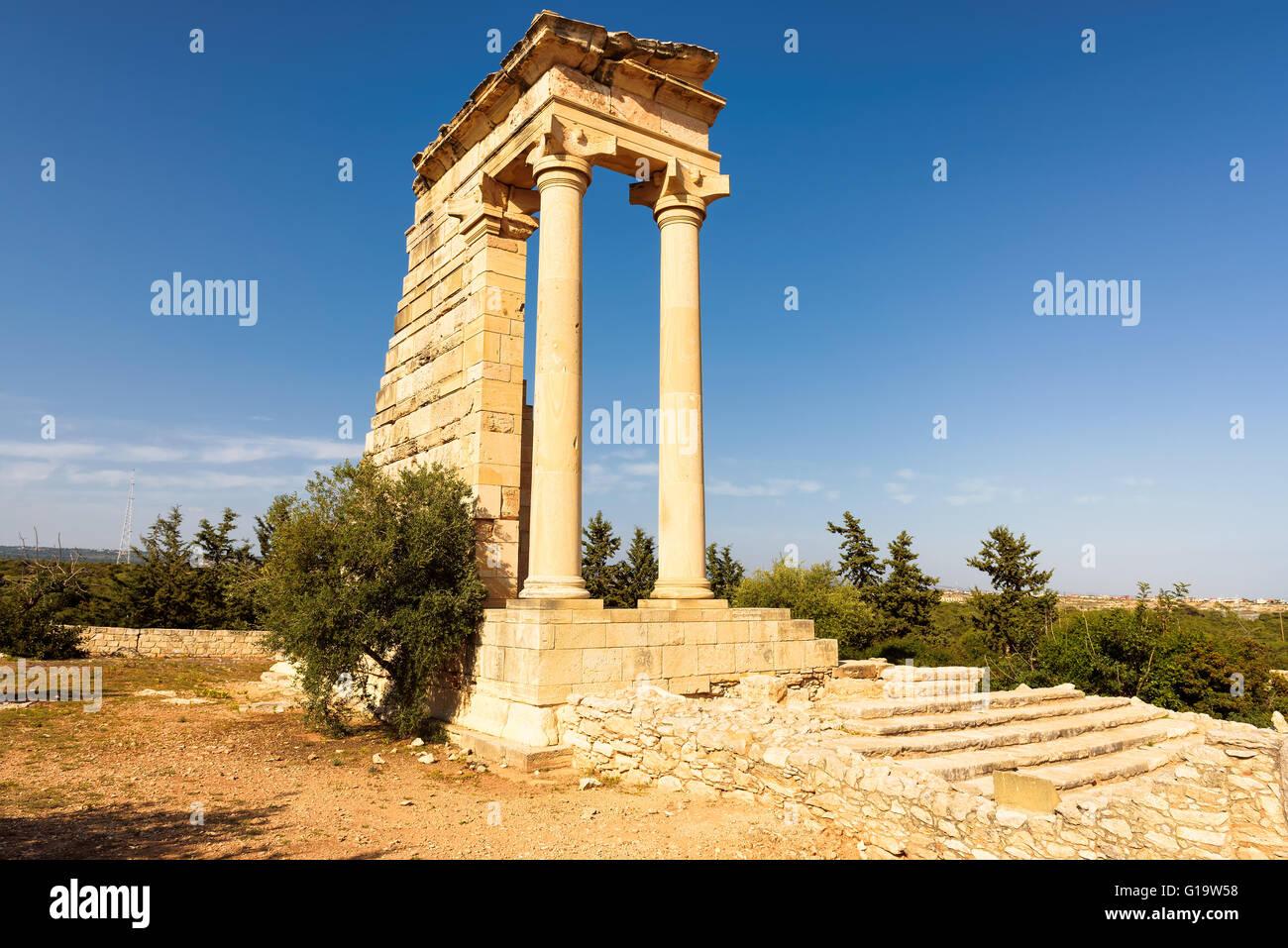 Temple of Apollo Hylates at Kourion, Limassol, Cyprus - Stock Image